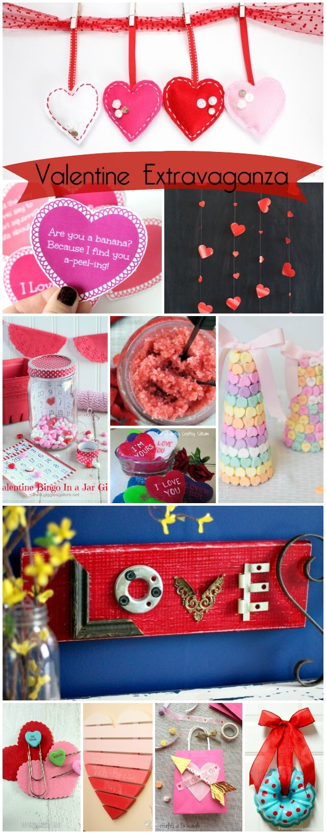 12 Valentine Crafts for you and your family to make. It's a Valentine Extravaganza!