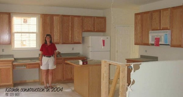 A brand new house in 2004. Big hopes and big dreams. 13 years later, it's time for a kitchen renovation.