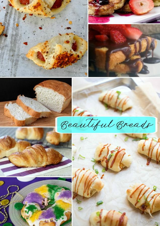 You'll fall in love with carbs again with this Beautiful Bread Collection! Featuring Cornbread Pancakes, homemade biscuits, and Pigs in a Blanket!