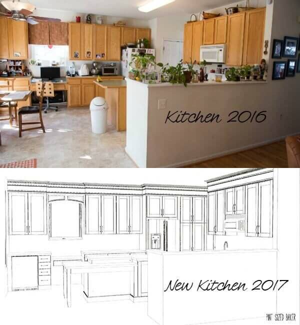 Beginning a Kitchen Renovation Project. Kitchen in 2016 with new plans for 2017!
