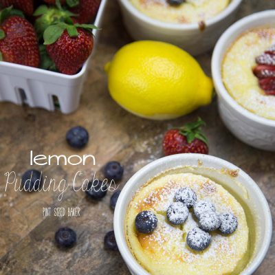 Easy to whip up and quick to bake, these lemon pudding cakes are the perfect dessert any night of the week.