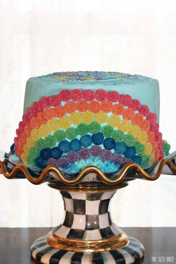 Fun Rainbow Cake for a special birthday cake!