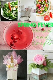 I've got Spring Fever!! Who else is ready for warmer weather? Time to get ready with some fresh recipes and crafts.