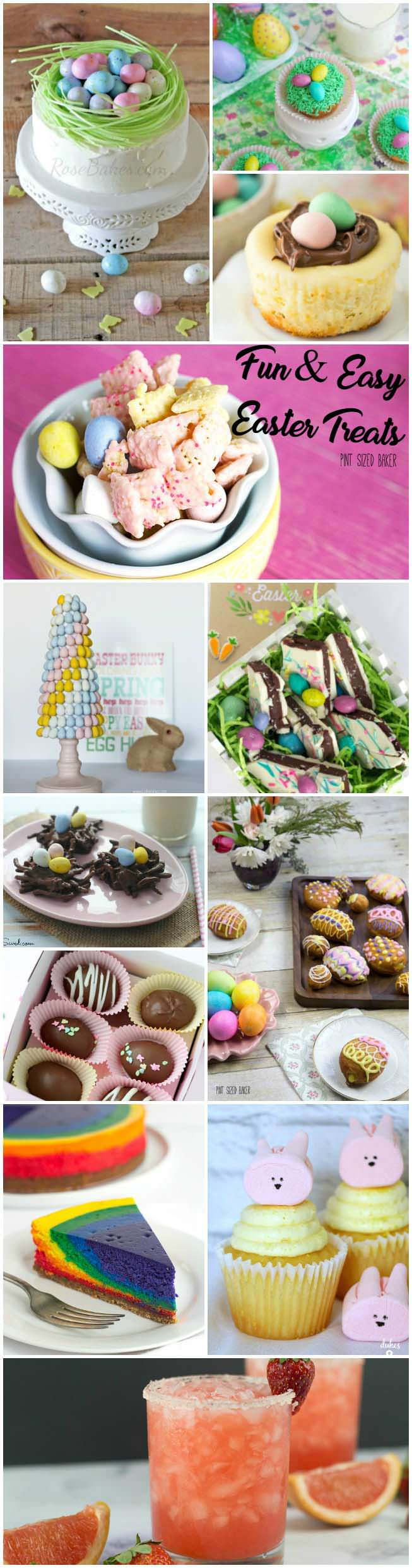 10 Fun and Easy Easter Treats that the kids and adults are going to love. Have a blast this Easter Sunday!