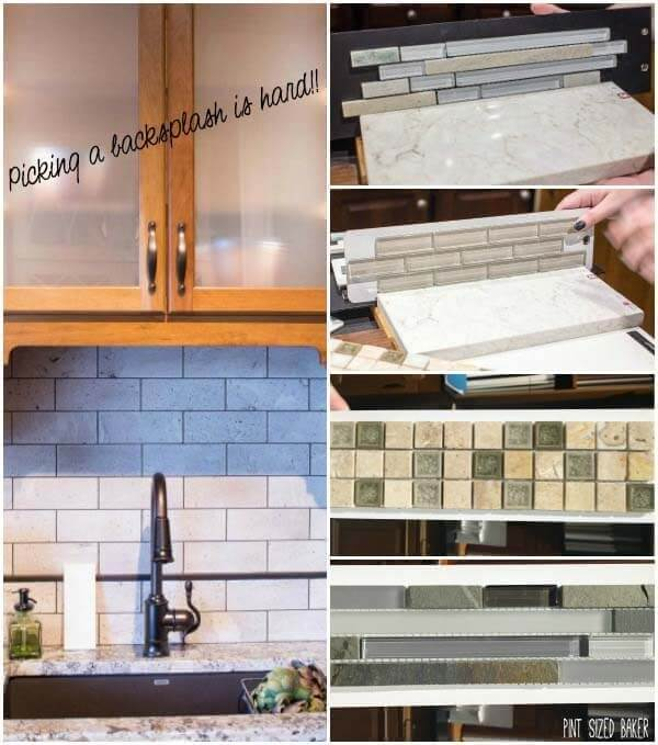 Backsplash in a kitchen - There's so many choices. I still haven't decided.