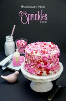 Learn how to cover a cake in Sprinkles. This Sprinkle Cake is sure to be a huge hit at your next party!