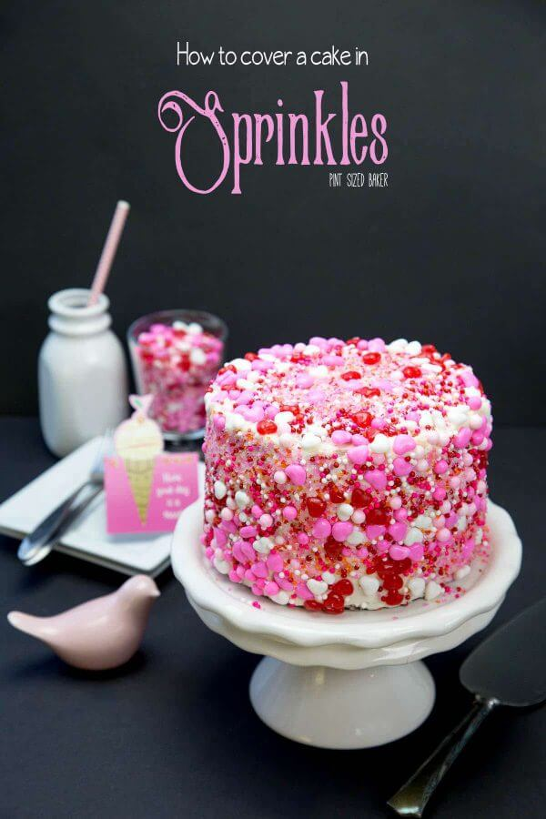 Learn how to cover a cake in sprinkles. This Sprinkle Cake technique is easy enough to make at home and will knock the socks off the birthday girl!