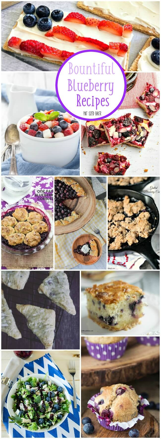 Fresh blueberries are my favorite! Here's 10 Bountiful Blueberry Recipes that are perfect for your summer desserts!