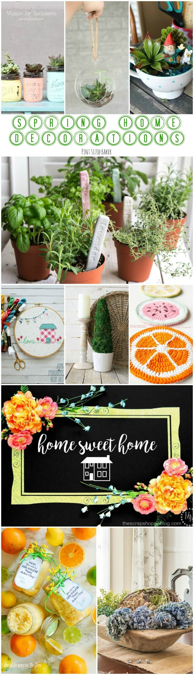spring home decorations pint sized baker