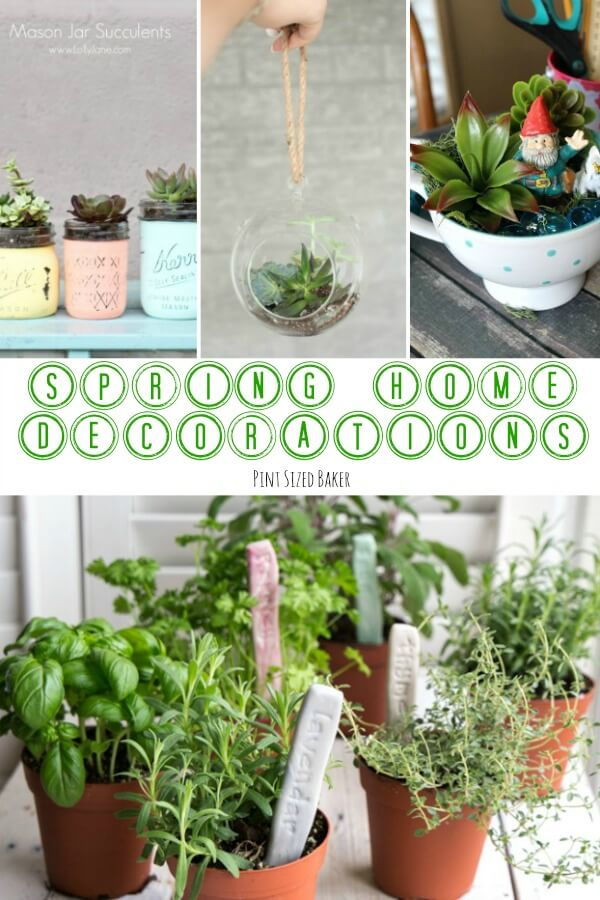 Time to sweep away the winter cobwebs and get your home brightened up for warmer weather with these 10 Spring Home Decorations Ideas.