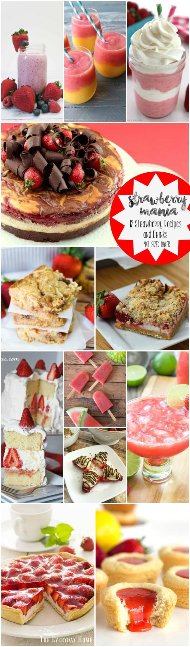 It's Strawberry Mania!! 12 Great Strawberry desserts and drinks for all the strawberry lovers!