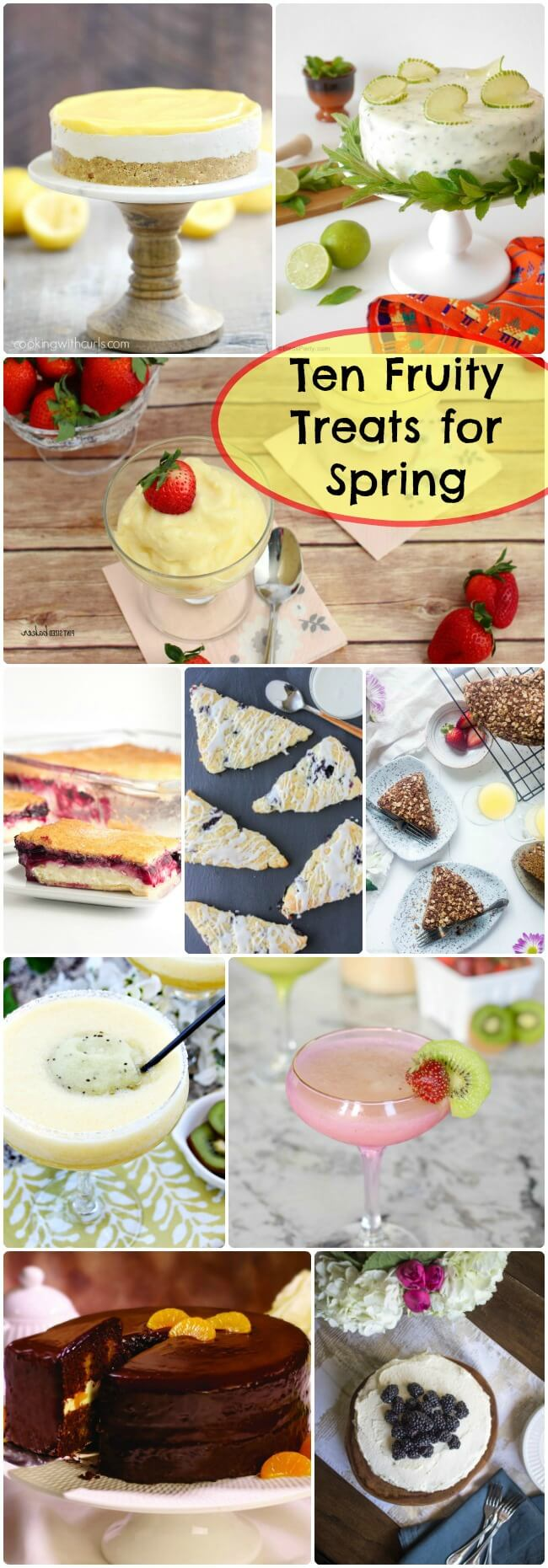 Spring time is all about baking with fresh fruits. Enjoy these Ten Fruity Treats for Spring Baking.