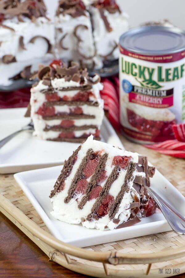 This summer you'll fall in love with this Black Forest No Bake Eclair Cake. Super easy to assemble and everyone loved it served frozen!