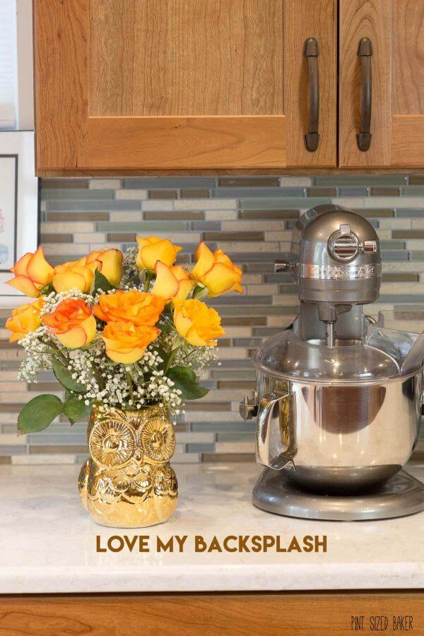 Picking a backsplash is tough. You need to find something that you can live with that will also compliment the area.