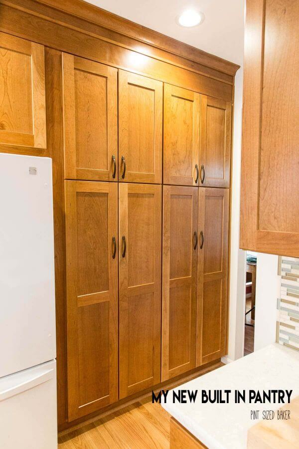 New built in pantry in kitchen renovation.