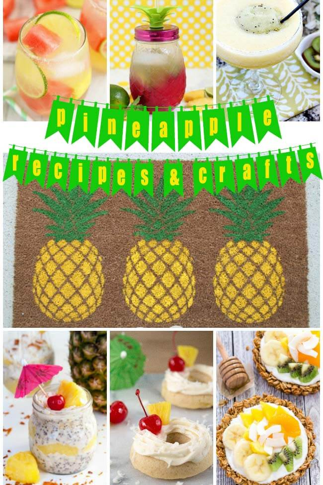 Get all of your Pineapple Recipes and Crafts for the summer here! There's great ideas for the kids, pot lucks, and parties!