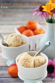 This apricot ice cream is sure to be your new favorite summer dessert! Pick up some fresh apricots and then turn them into a decadent frozen treat!