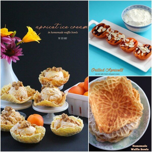 You're three easy recipes away from homemade grilled apricot ice cream served in homemade waffle bowls.