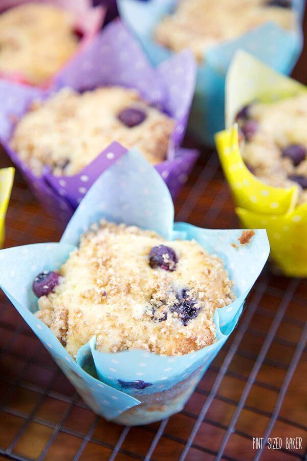 Your family is going to love these Bakery Style Blueberry Muffins for breakfast. Enjoy them fresh baked or freeze them for a ready-to-go treat.