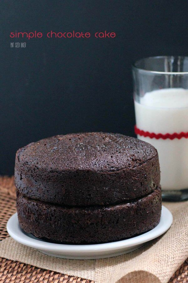 Simple and Decadent. This easy Chocolate Cake Recipe is just waiting for the perfect frosting. What will you top it with?