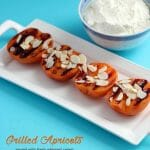 Toss some apricots on the grill for a great dessert tonight. Grilled Apricots with fresh whipped cream.