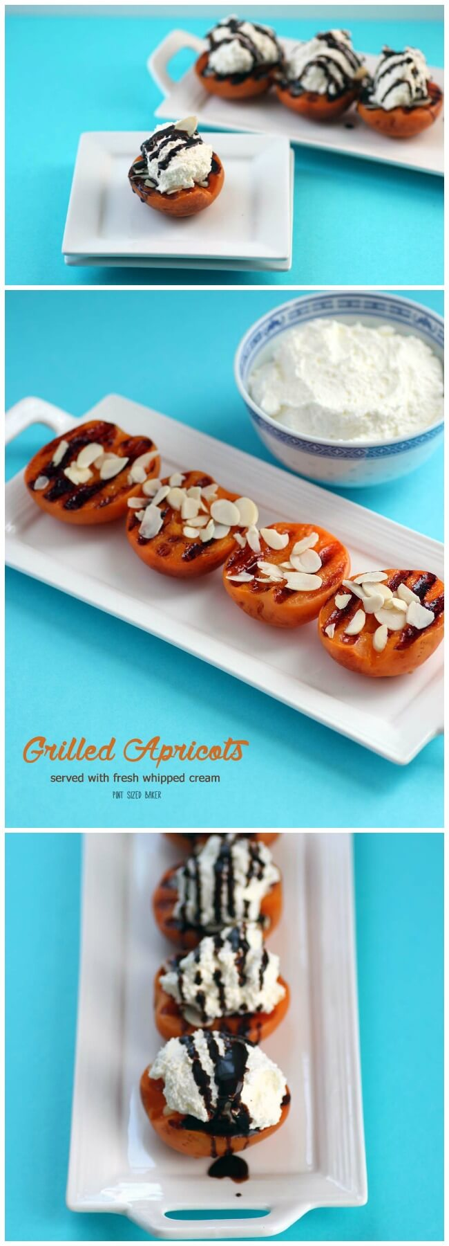 Don't let those coals go to waste after grilling dinner. Make grilled apricots for dessert and top them with fresh whipped cream and almond slivers.