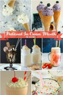 July is National Ice Cream Month. Get inspired with these ice cream recipes, milkshakes and popsicles!! Just some the best ways to cool down this summer!