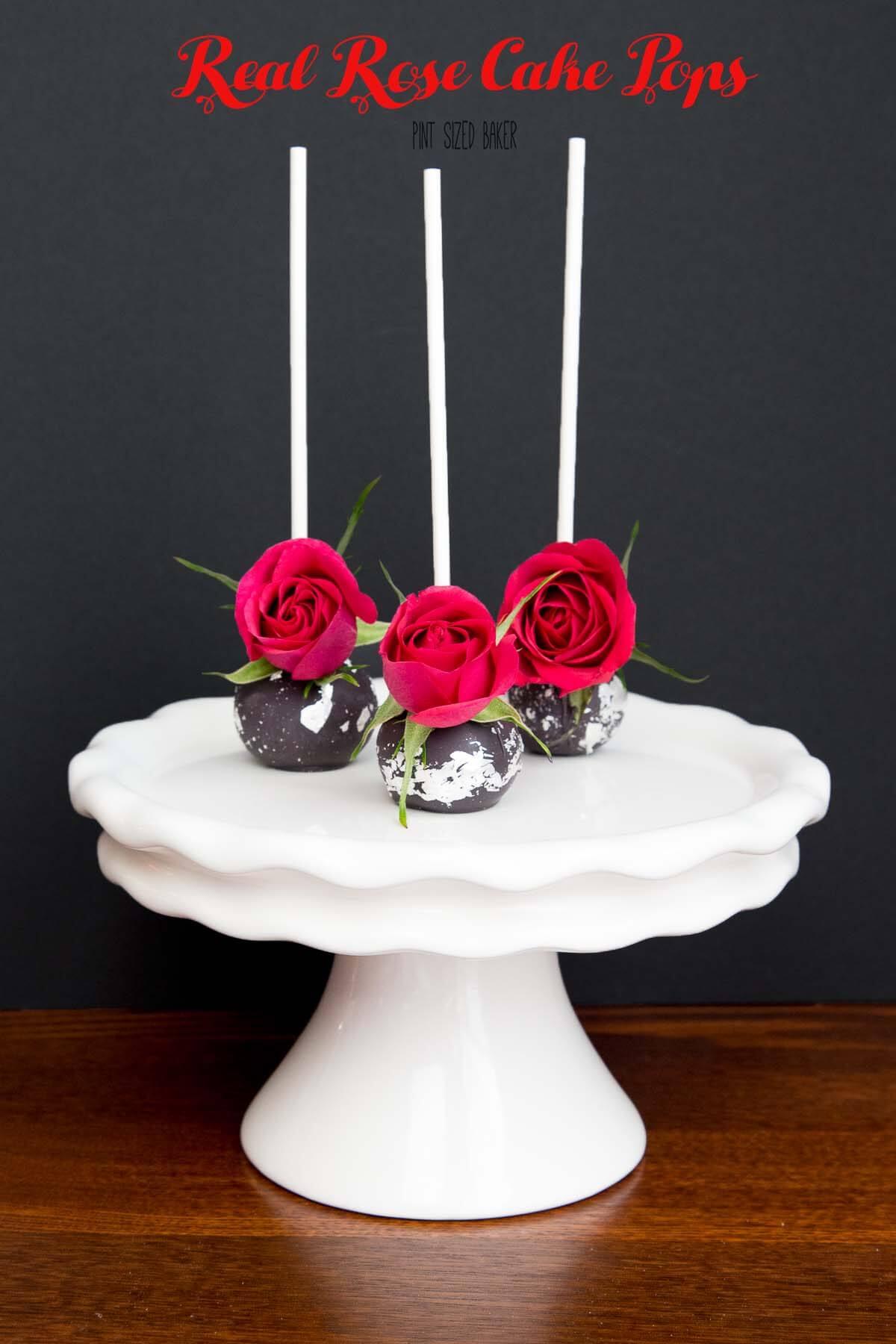 Real Rose Cake Pops Pint Sized Baker