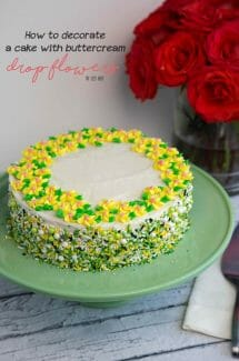 Adding Drop Flowers to a Cake