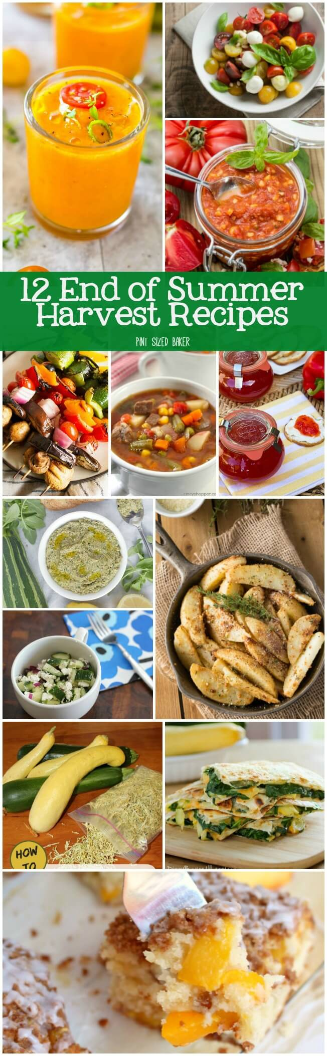 2 End of Summer Harvest Recipes that you can make to use up your tomatoes, zucchini, basil, squash, and more. Get in the kitchen with your seasonal veggies and make a great dish for your hungry family.