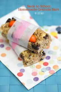 Back to School Cereal Bars