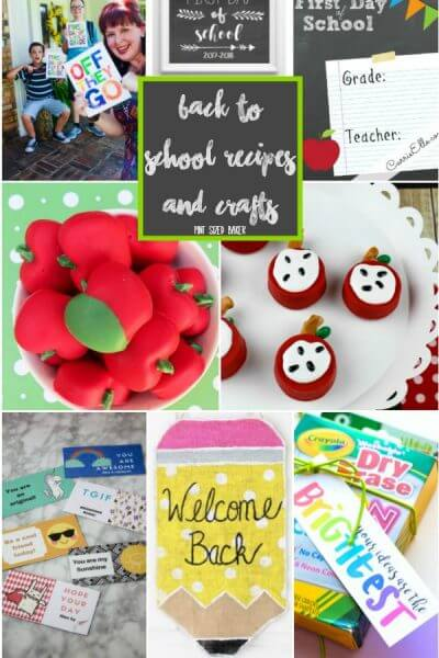 Back to School Recipes and Crafts