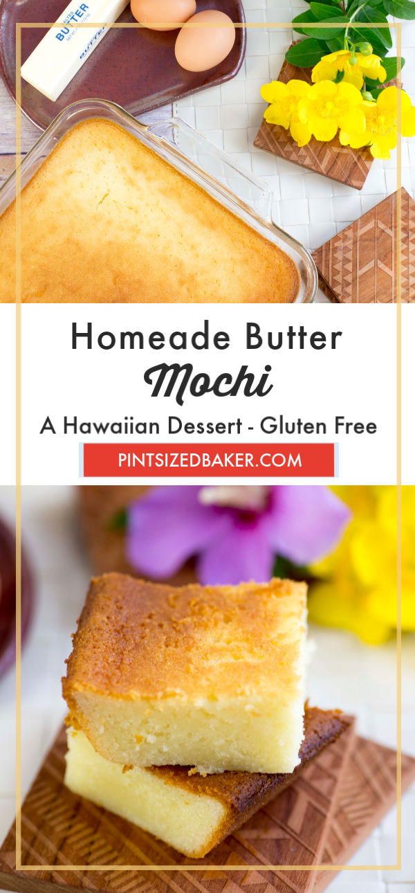 Butter Mochi is my go-to treat when I'm craving a comforting dessert. It reminds me about my childhood in Hawaii.
