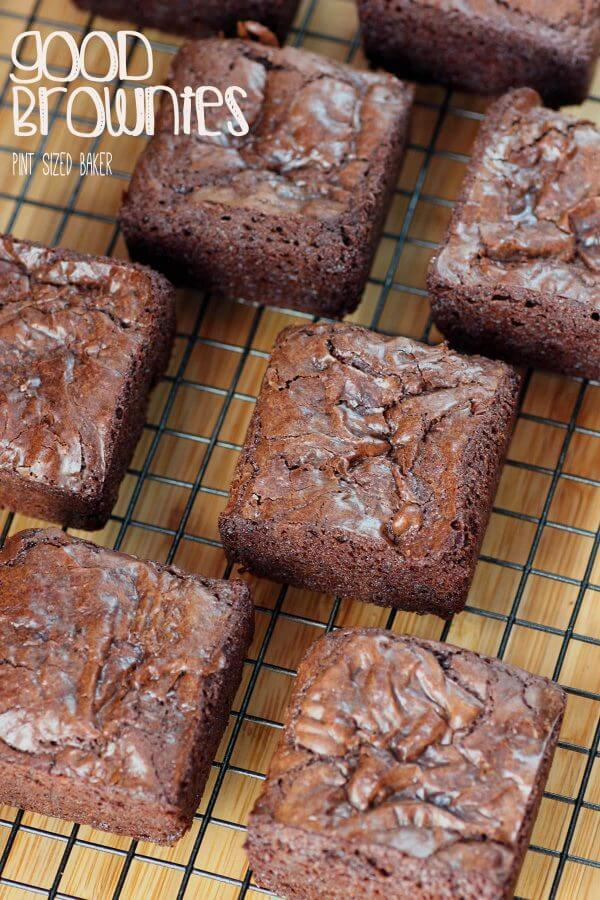 This is my go-to brownie recipe! It always makes such good brownies every time, without fail. Great for adding in various mix ins as well!