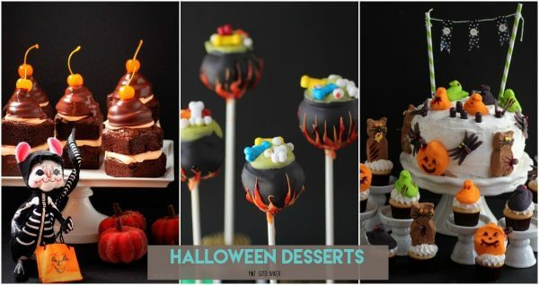 Halloween is a great time for sweet treats. Here's a collection Halloween Desserts like Halloween Cake Pops, Cakes, and fudge.