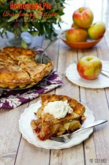 Homemade Cranberry Apple Pie – Fresh fruit and Low Sugar