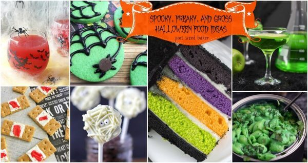I've got 15 Spooky, Freaky, and Gross Halloween Food Ideas that are perfect for your Halloween spooktacular Party!