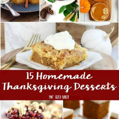 Homemade Thanksgiving Desserts