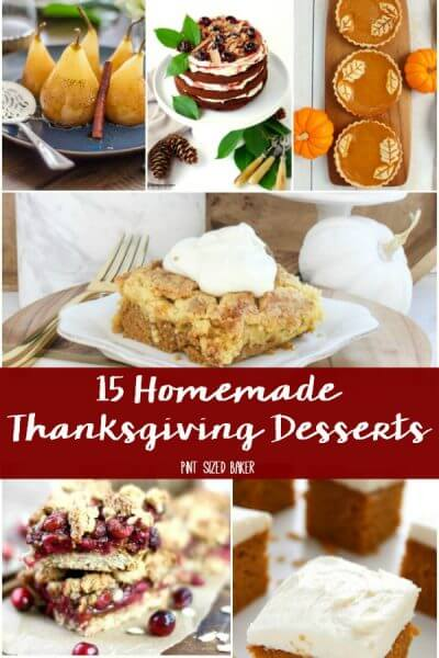 Homemade Thanksgiving Desserts