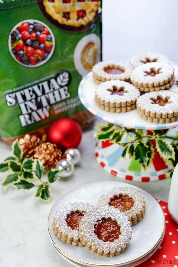 Now you can enjoy your cookies without the guilt with this Lower Sugar Linzer Cookie Recipe. Swap out half the sugar with Stevia in the Raw for 50% less sugar!