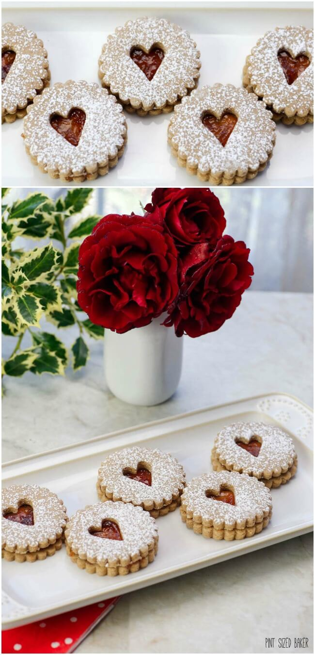 Valentine's Day isn't all about sugar filled treats! Treat the family to lower sugar Linzer Cookies that have 50% less sugar.