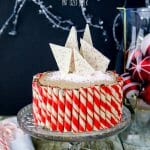 An easy Chocolate Cake recipe that is full of peppermint flavor. This Chocolate Peppermint Christmas Cake is perfect to serve to your family and guests.
