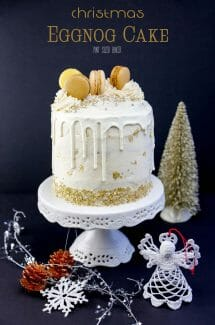 Easy Eggnog Christmas Cake and Frosting