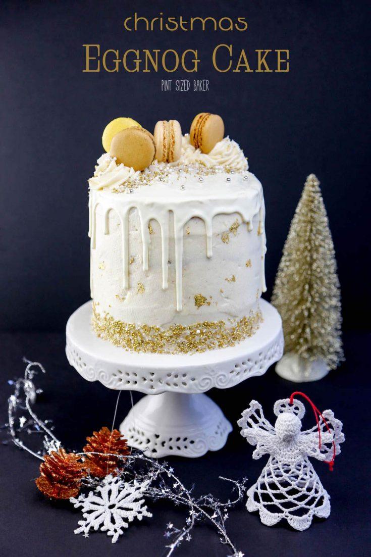 Easy Eggnog Christmas Cake