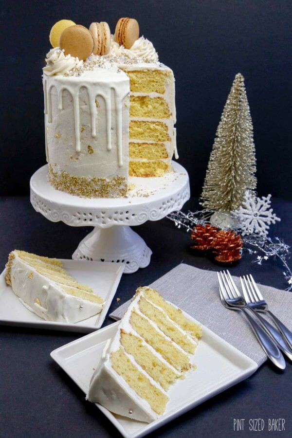 This Easy Eggnog Christmas Cake and Frosting is for all Eggnog lovers out there. It's super quick to make with yellow cake mix and a jug of Eggnog.