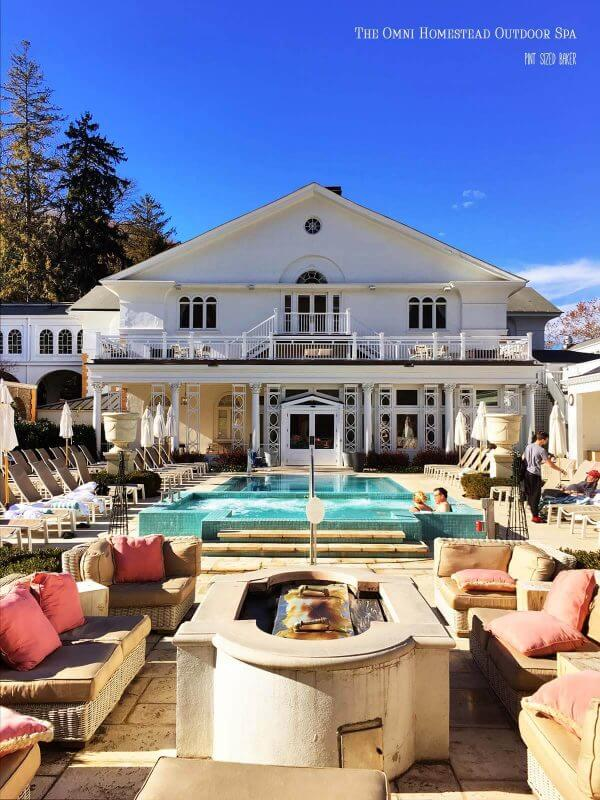 Get away to The Omni Homestead resort for some adult time and R&R in their outdoor heated pool and natural spring.