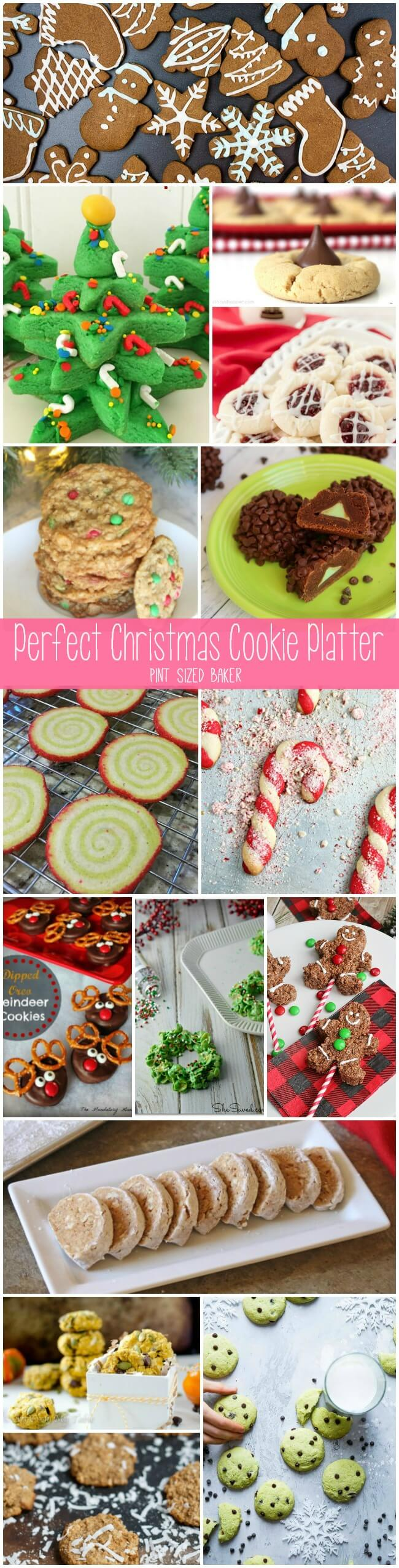 Here's 15 cookie recipes that will make up The Perfect Christmas Cookie Platter to give out this holiday season. The neighbors are gonna love ya!