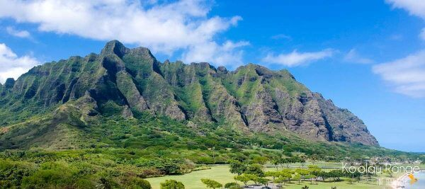 Look Familiar? The Ko'olau Mountain Range has been the backdrop of many Hollywood movies.Droning over Oahu