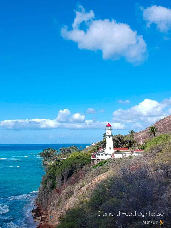 Drive out of Waikiki around Diamond Head to check out this lighthouse. There's a hike down to beach where a lot of surfers like to go. Droning over Oahu