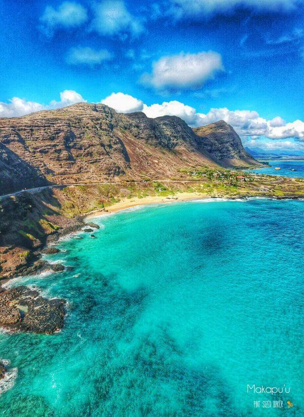 Take a drive to the east side of Oahu to Makapu'u Beach. There you can spend a few hours at Sea Life Park, hike up to a lighthouse and go for a dip in the ocean. Droning over Oahu